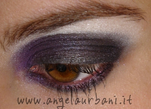 tutorial make up amethyst smoke novembre con prodotti Avon