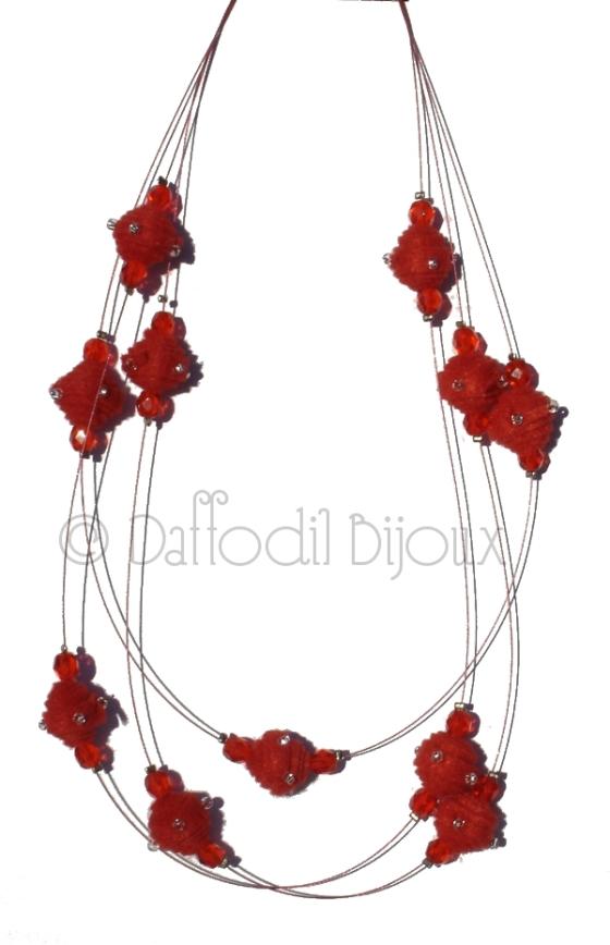 collana soft crystal feltro daffodil bijoux