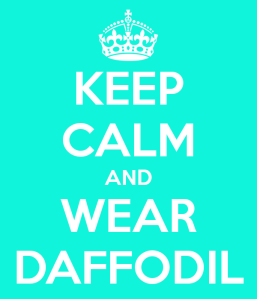 keep calm and wear daffodil bijoux